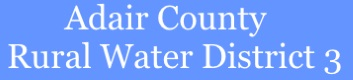 Adair County Rural Water District 3